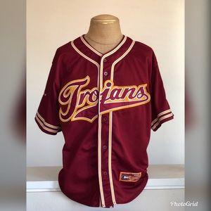 Vintage USC Trojans Baseball Jersey   2XL